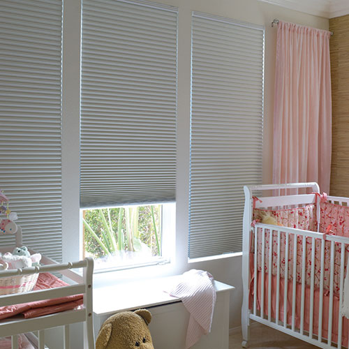 Blockout Thermacell Blinds in babies bedroom / nursery